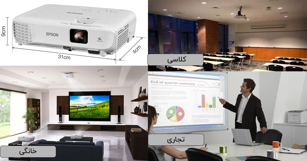 کاربردهای ویدئو پروژکتور اپسون X06